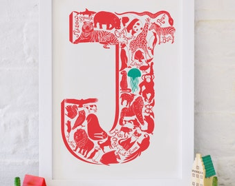 Animal Alphabet Letter J