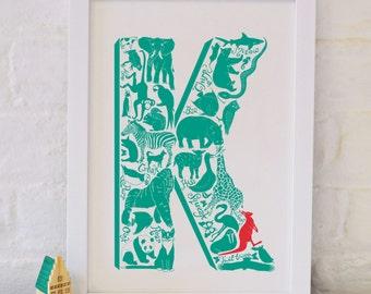 Animal Alphabet Letter K