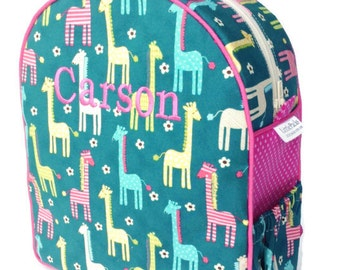 Toddler Backpack, Preschool Backpack, Girls Backpack, Quilted Backpack, Giraffe Backpack, Diaper Bag, Tote Bag, Book Bag