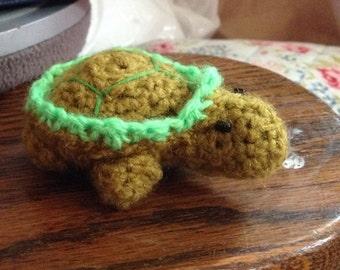 Ethel' the Crochet Tortoise Cuddly Toy