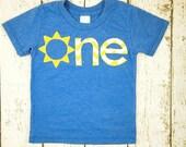 You are my sunshine birthday Yellow Chevron Sunshine Childrens shirt Birthday Sun applique Organic Shirt Blend first birthday second