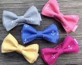 Nautical Bow Tie - Nautical Wedding - Anchor Bow Tie - Fuchsia Bow Tie - Matching Groomsmen's Ties - Ringbearer Bow Tie - Delta Gamma