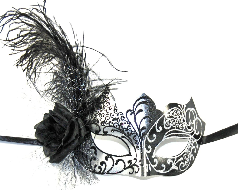Black & Silver Masquerade Mask Costume Mask Costume Ball
