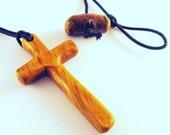 Handmade Cross Pendant - Wood Cross Pendant - Wooden Cross - Necklace - Cross Necklace - Pendant