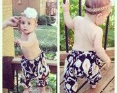 6-9 Months organic baby harem pants, floral baby girl leggings, children's leggings, tribal baby, hippie bohemian ikat baby shower gift