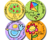 WATERCOLOUR SPRING  Personalized stickers for Teachers
