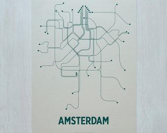 Amsterdam Screen Print - Old Green/Jungle