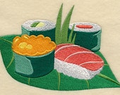 Sushi Treat A Embroidered Flour Sack Hand/Dish Towel