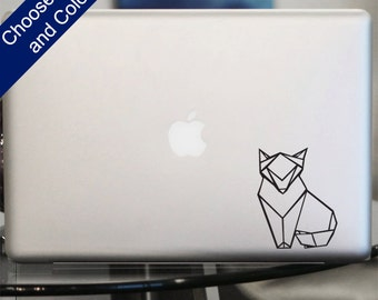 Fox Origami Decal - Sticker for Laptop, Car