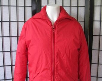 Vintage 1960s 1970s Brooks Brothers Red Ski Jacket Mens Small Unisex 40 Men Women Teen