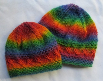 Kisses Baby Hat and Boots - KNITTING PATTERN - pdf file by automatic download