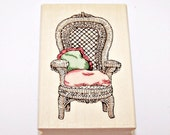 WICKER CHAIR Rubber Stamp by Uptown Rubber Stamps