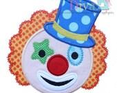Circus Clown Digital Embroidery Design Machine Applique