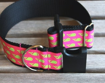 "Girly Dog Collar, Width 1.5"" - 2"" Wide / Different Ribbon Choices"