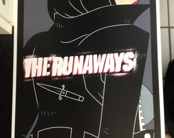 The Runaways band poster print