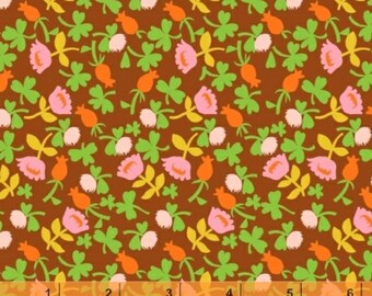SALE - Briar Rose - Brown Calico Flower Cotton Print Fabric from Windham Fabrics