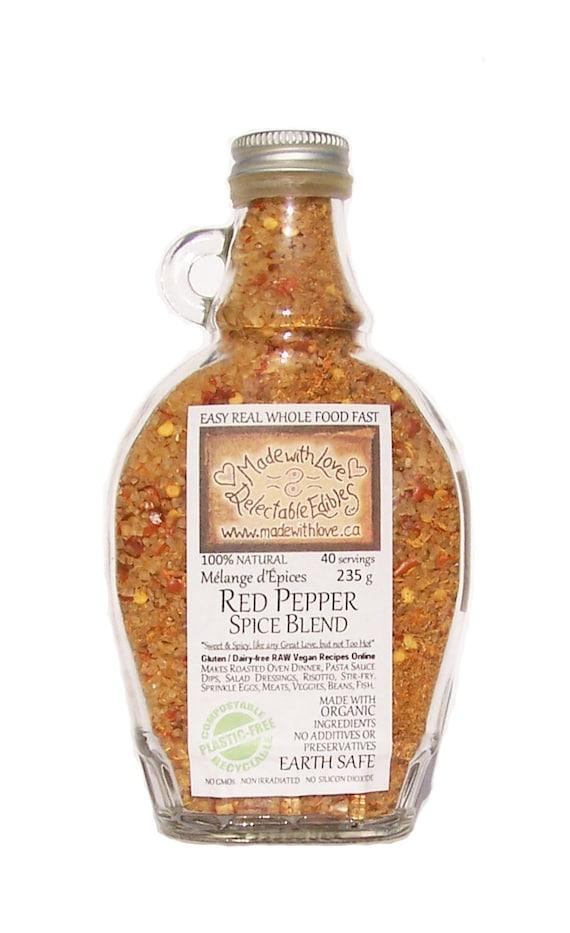 Red Pepper Artisan Gourmet Spice Blend - Gluten Free Dairy Free Vegan - Food Market -  Organic Food Herb Spice - Pasta Sauce Mix Dip Mix