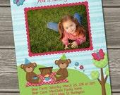 Teddy Bear Picnic Birthday Invitation (Digital File) 1