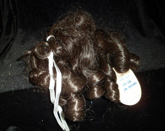 Global Doll Wig Becky Size 13-14 Dark Brown Ringlets