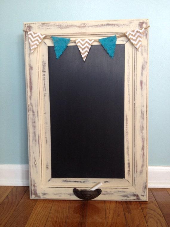 Custom Order Chalkboard Repurposed Cabinet Door Shabby Chic