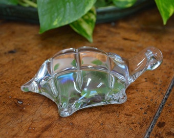 Vintage Clear Art Glass Turtle