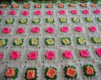 Rosebud Baby Blanket