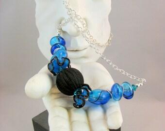 Handblown Glass Beaded Chain Necklace