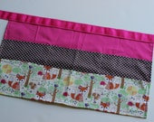 Classroom Apron-  Fox and Friends (pink & polka dots)
