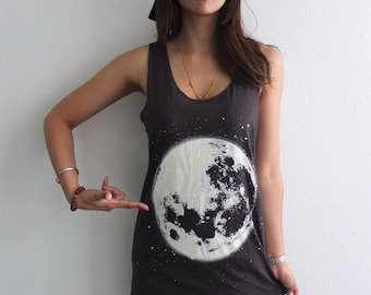 Harvest Full Moon Space Fashion Space Tank Top Vest M