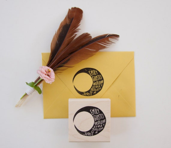 The Best Of Etsy - Moon Return Address Stamp