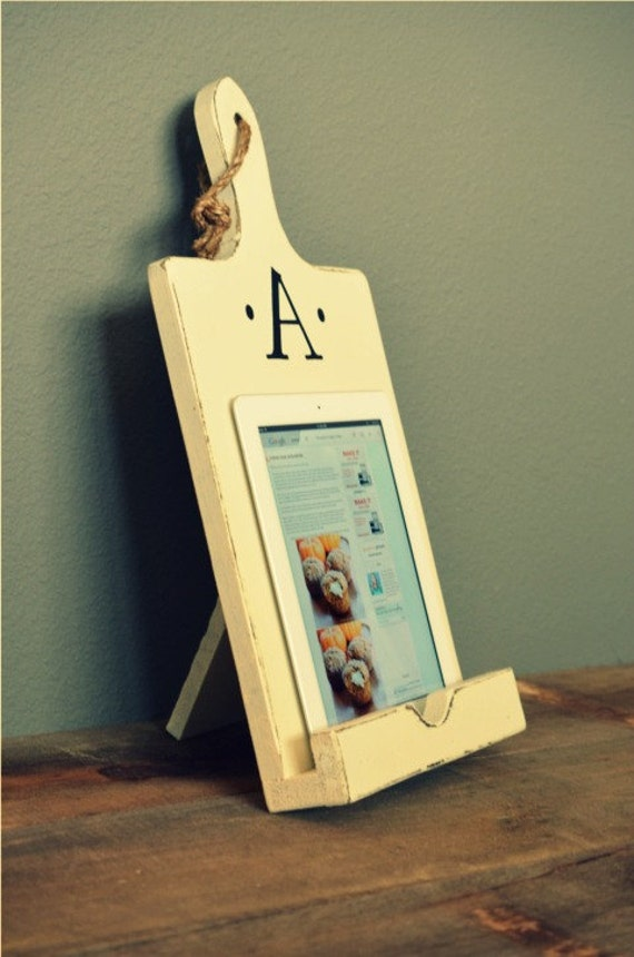 Items Similar To Wood Ipad Stand Cutting Board Style