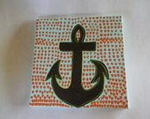 Silver Anchor with Orange details