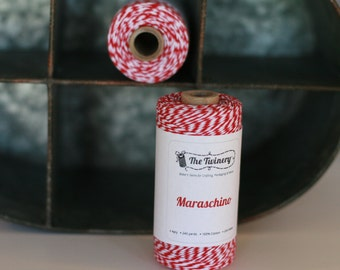 Bakers twine full spool Maraschino Red 240 yards, red twine, red bakers twine, packing twine, Christmas gift wrap, red craft twine, string