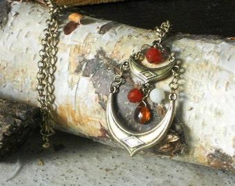 Bohemian Brass Necklace