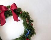 Macho Men Christmas Wreath, Manly Man Christmas decor, gay male Holiday decor