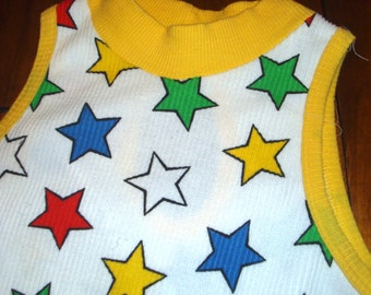 Funky Multi Color Star Dress Size Child Large Adult XS