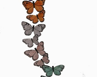 1 Pc 58 Inch Feather Butterfly Garland in Soft Pastel Colors (BF7407)