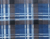 Pack and Play Sheets, PlayYard Sheets Handmade Fleece Bedding for Infants Shower Gift 'Blue Plaid' Print Fits Pads (27x39 inches)