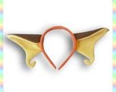 Raichu Ears Headband - Fleece Anime Geek Gift Pokemon Orange Brown Cute Kawaii Cosplay Ears