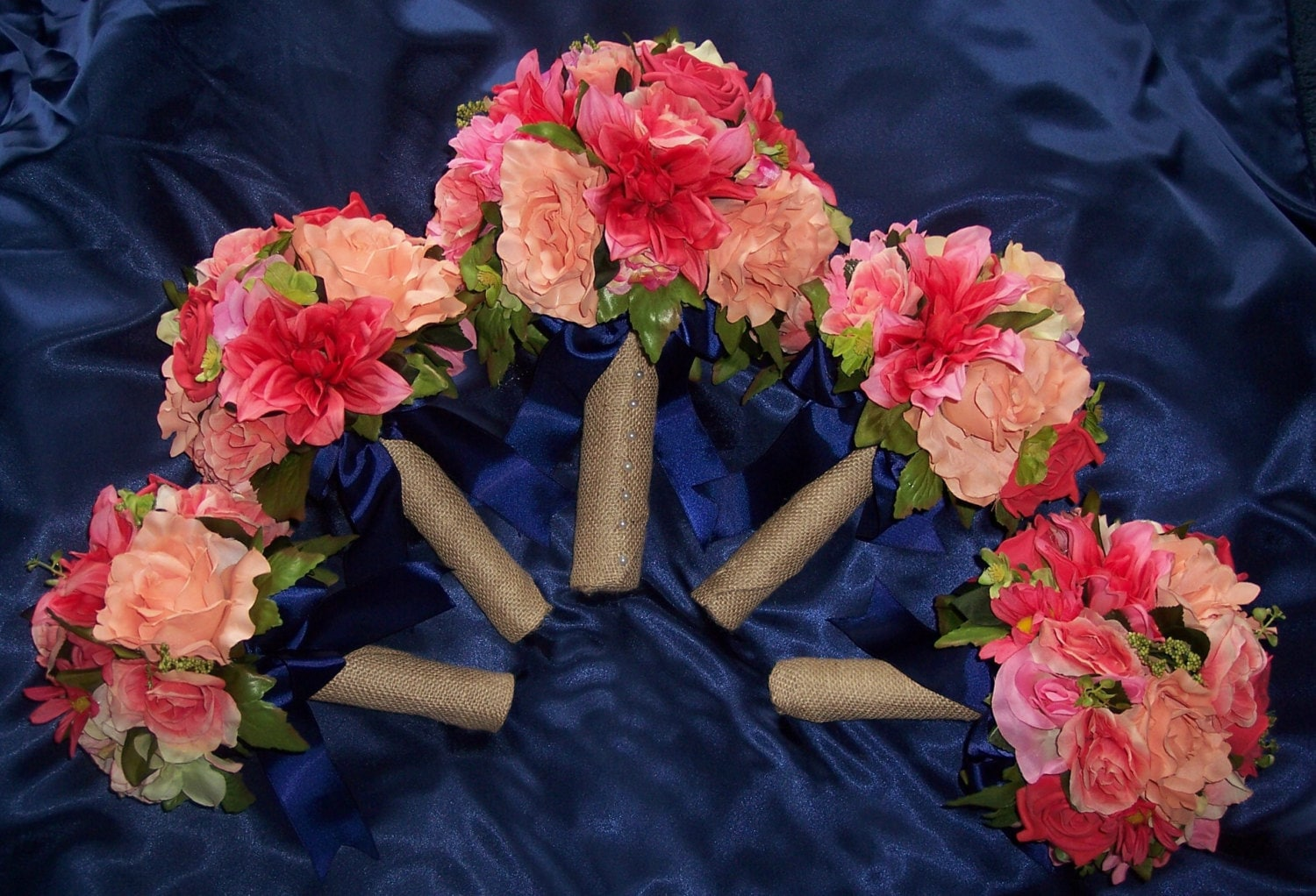 Navy And Coral Wedding Colors: CORAL & NAVY Weddings Peach Pink Burlap Or Done In Your