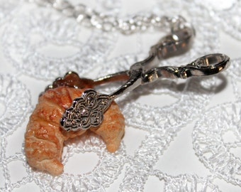 french pastry necklace croissant necklace kawaii necklace