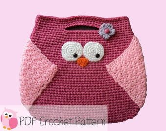 Owl Purse: Crochet Pattern Instant Digital Download