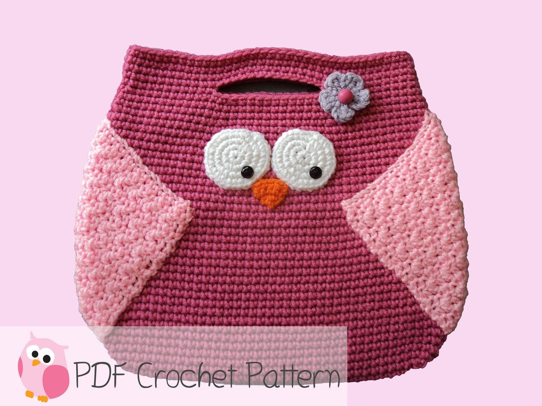 Owl Purse: Crochet Pattern Instant Digital Download