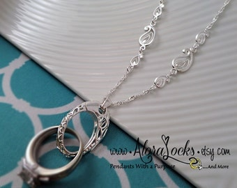 engagement ring on necklace - Wedding Ring Holder Necklace