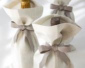 Linen Gift Bag Set of 3