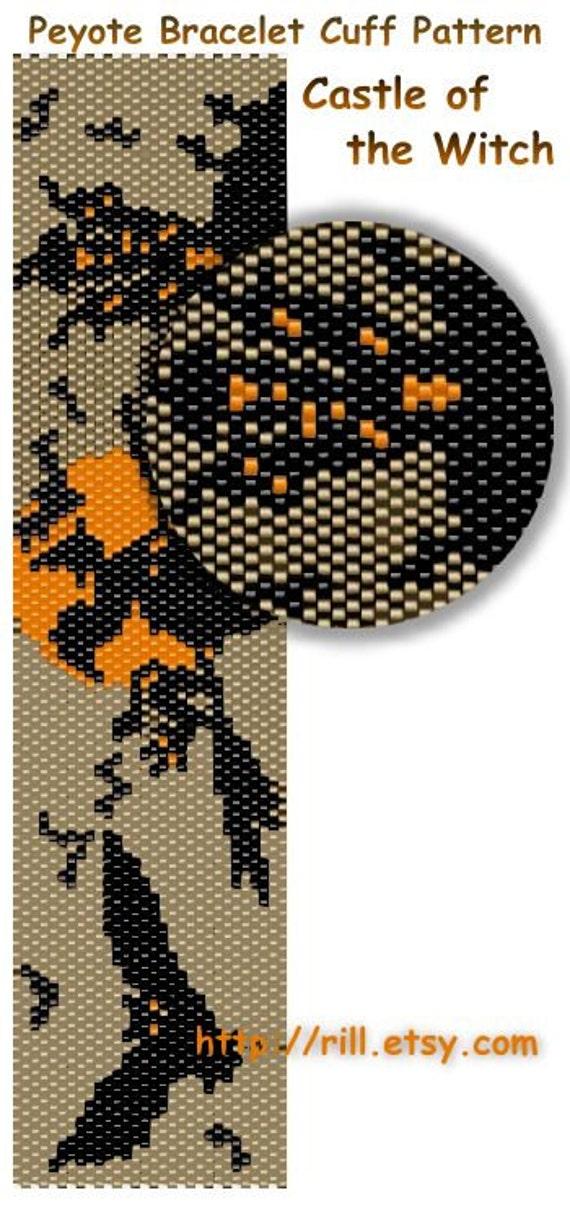 Схема браслета мозаикой