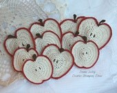 10 Sweet Red Apples Crocheted for REBEKAH ONLY!