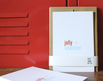 Holiday Card - Jolly Whatever (5-pack)
