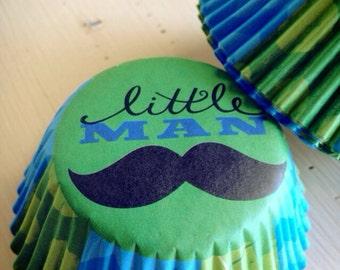 Mustache cupcake liners