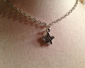 Star Necklace - Silver Jewelry - Pendant Jewellery - Children - Girls - Chain